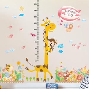 卡通儿童量身高贴纸卧室装饰墙贴画温馨墙纸宝宝身高尺可移除自粘