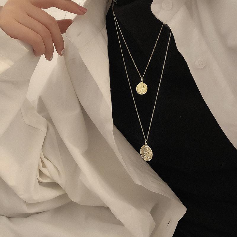 2019年新款个性复古简约百搭长款金币硬币毛衣链韩国ins项链女