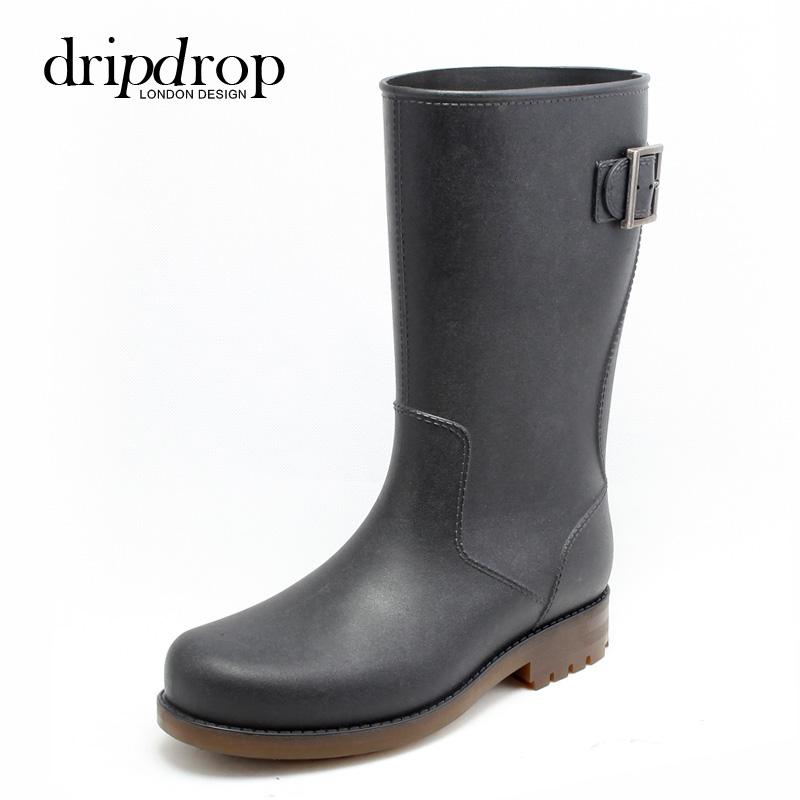 德係全地形男士中高筒雨鞋 雷神釣魚雨靴水鞋套鞋膠鞋防水鞋潮