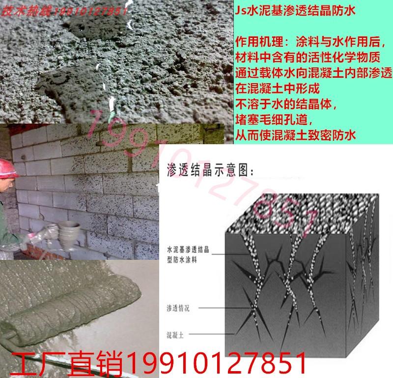 水泥基渗透结晶型防水涂料背水面js聚合物内墙天花漏水材料屋顶胶