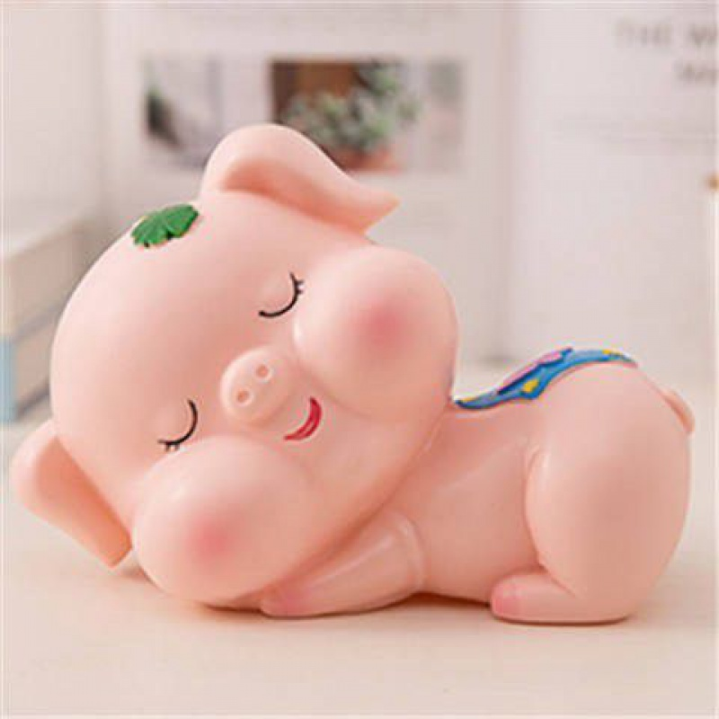New cute pig childrens drop proof piggy bank hard paper money Plastic Piggy Bank creative gift for men and women New Year gift