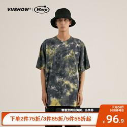 viishow夏季沙滩休闲短袖T恤男2021新款个性慵懒BF风半袖潮流体恤