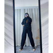 花玖家大码/显瘦显腿长!腰以下都是腿!220斤针织奶奶裤哈伦裤