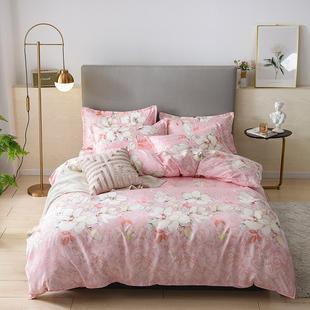 全棉四件套床上用品碎花纯棉4件套高质量网红款双人床单双人床