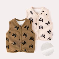 婴儿背心秋冬儿童洋气外穿马甲宝宝纯棉坎肩男童冬季马夹外套冬装