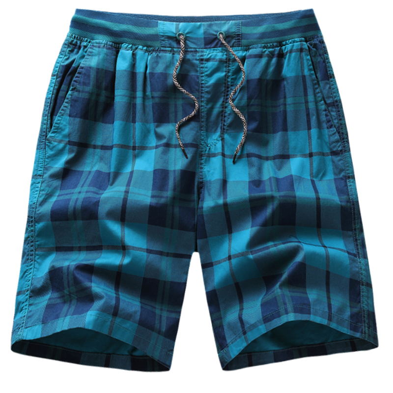 Fat plus plus plus plus size shorts mens Plaid beach pants fat big underpants sports loose tight pants head 5 points