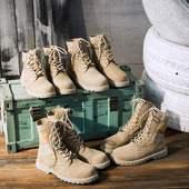 靴真皮马丁靴女中筒新款 磨砂 官方正品 官网年思加图专户外军靴工装