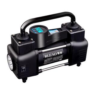 12V高压便携式小轿车轮胎汽车用打气泵筒电动 车载充气泵双缸雷傲