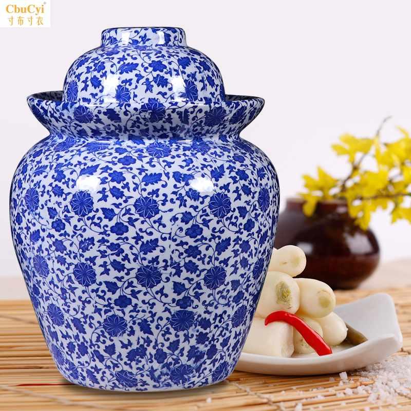 泡菜坛陶瓷器家用加厚土陶密封罐四川酸菜特大号咸菜泡菜罐储物罐
