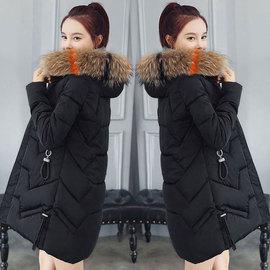 2019冬季新款韩版棉衣女中长款加厚羽绒棉服彩毛领女式时尚棉袄潮