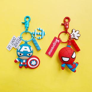 蜘蛛侠挂件公仔钥匙扣男可爱书包挂饰个性 创意小玩偶漫威钥匙圈环