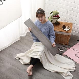 灰色木纹自粘PVC石塑胶地板贴纸欧美简约风服装咖啡店家用卧室