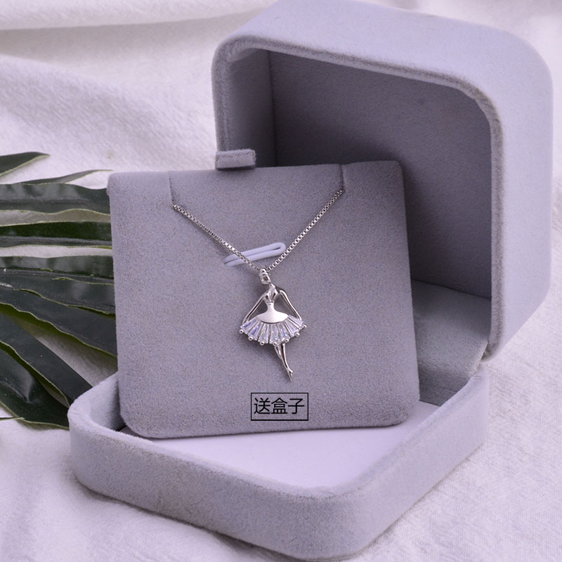 [Mini  独家  轻奢项链]s925纯银项链跳舞的女孩锁骨链韩版月销量270件仅售29.9元