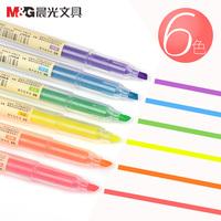 Утро 6 флюоресцентный карандаш студент использование это вкус цвет пресс шаг марк карандаш пометка карандаш цвет писец карандаш