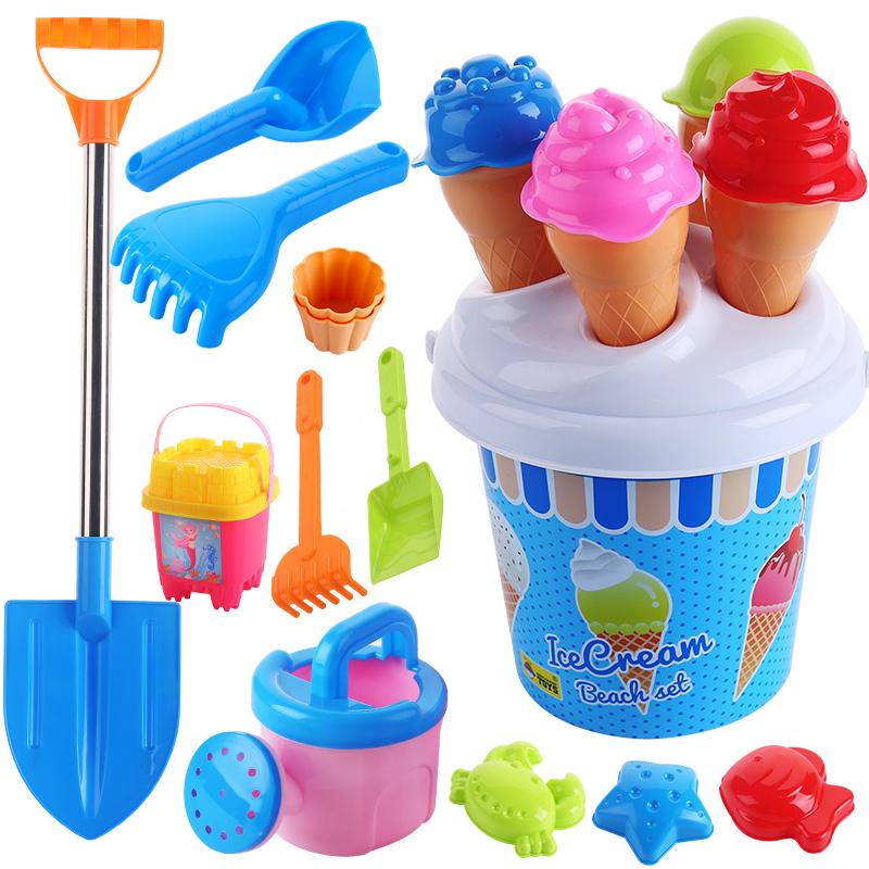 11-28新券儿童沙滩玩具不锈钢冰激凌套装铲子