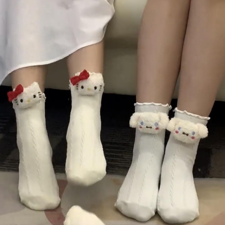 玉桂狗袜子'日系可爱少女心卡通学生春夏美乐蒂三丽鸥纯棉中筒袜