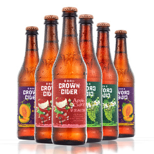 REBERG CROWN cider皇冠西打精酿果味啤酒330ml*6瓶装