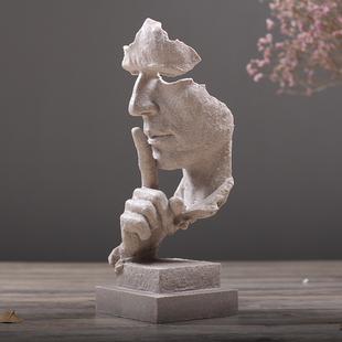 简约现代创意沉默是金工艺品摆件北欧雕塑办公室客厅艺术品装饰品价格