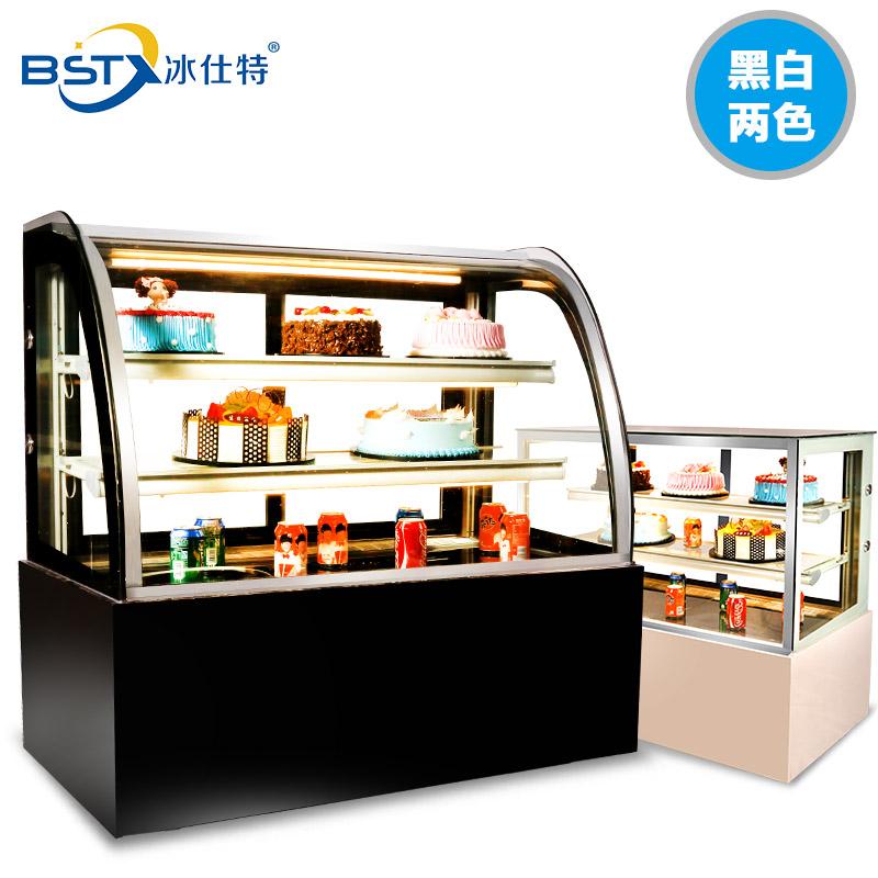 冰仕特蛋糕櫃冷藏櫃商用展示櫃前後開門弧形直角台立式風冷保鮮櫃