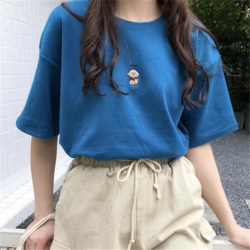 少女心夏季衣服学生服装学院风女体血韩版短袖t恤甜美青春女装夏