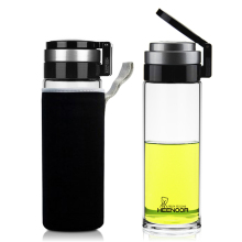 Sino Glass Single Layer Car Portable Large Capacity Outdoor Sports Water Cup Men's Tea Water Separation Tea Making Cup