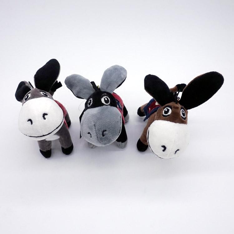 创意香味小毛驴毛绒玩具公仔小驴骡子钥匙扣玩偶汽车摆件背包挂件