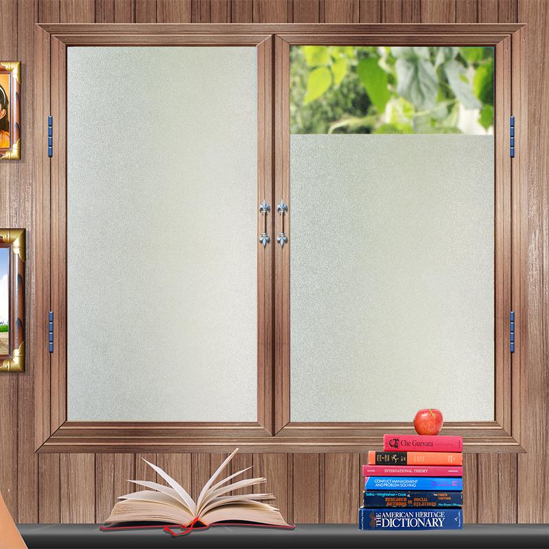 玻璃贴纸自粘磨砂卫生间防窥门窗贴透光不透明办公室遮光窗户贴纸