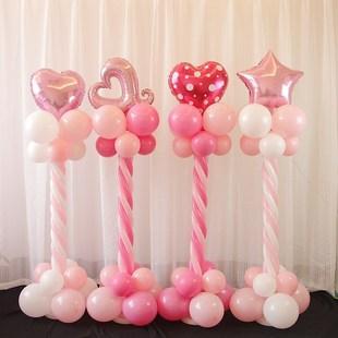 圣诞卡通立柱墩子节日庆典装饰柱子节庆派对布置用品铝膜气球路引