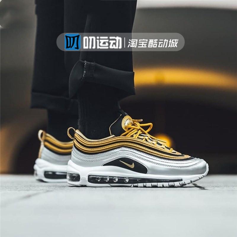 耐克/Nike  Air Max97黑金银白金子弹气垫休闲女鞋AQ4137-700包邮