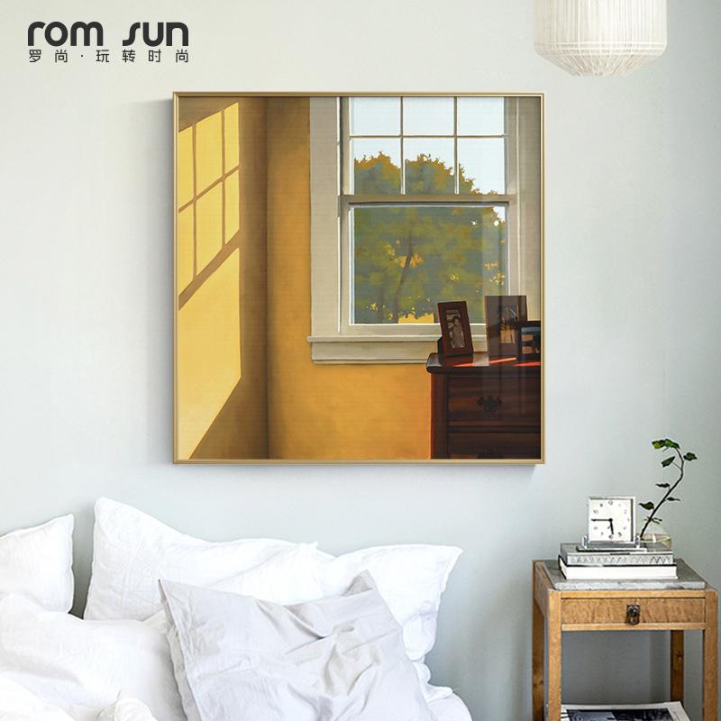 北欧风轻奢沙发背景墙复古客厅挂画