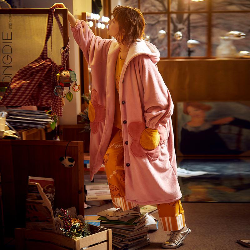 秋冬季加长款学生冬款珊瑚绒睡衣11月28日最新优惠