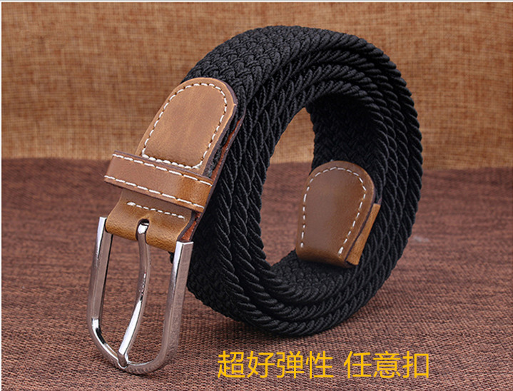 New super elastic belt with arbitrary buckle for men and women