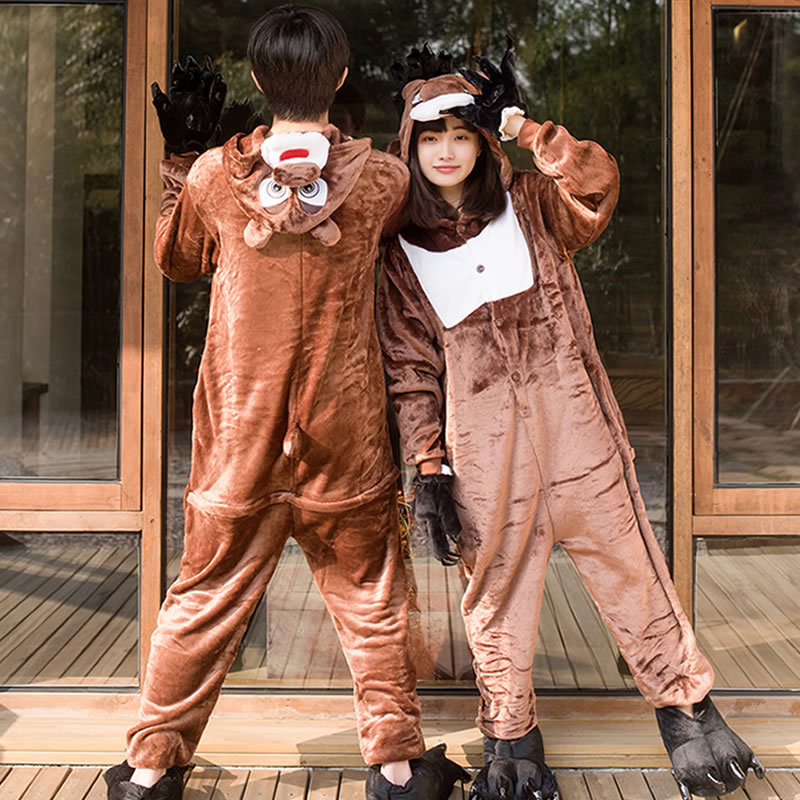 Cartoon movie bear Cosplay conjoined Costume Halloween party couple costume cartoon animal game uniform