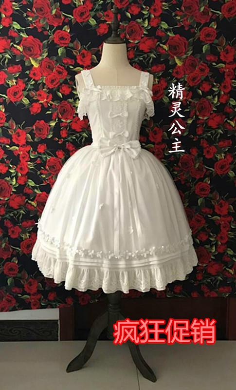 Fairy Princess Lolita original design daily slim dress jsk Lolita chiffon dress female Xia
