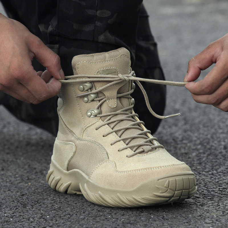 Outdoor army fan Boots Mens tactical boots low top field boots army fan womens waterproof desert land war mountaineering combat shoes