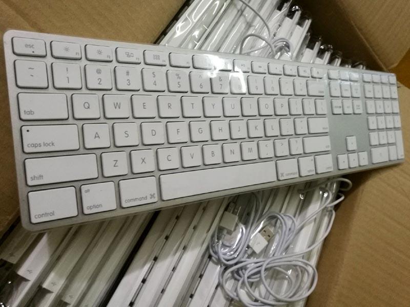 apple有线键盘 笔记本电脑 IMAC一体机MB110LL超簿铝合金G5 G6键