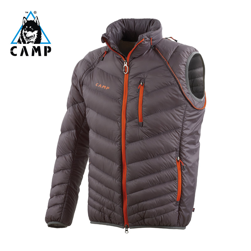 Italian Camp Camp outdoor down jacket mens and womens super light waterproof windproof slim breathable thickened down vest