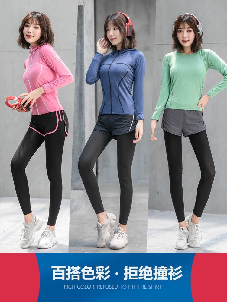 打篮球家居服减肥衣2020新款运动套装修身小清新夏天晨跑健身衣女