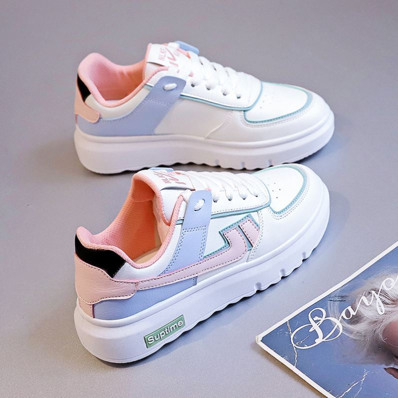 Spring and autumn style foreign style low top sports summer street womens shoes 2021 new leather spring and autumn shoes British