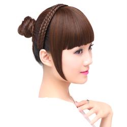 假刘海齐刘海鬓角发箍辫子头箍发卡留流海逼真发辫头帘假发女