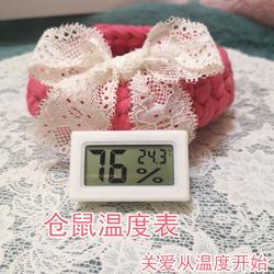 满30元包邮仓鼠金丝熊通心粉花枝鼠迷你温度表计室内测量空调房