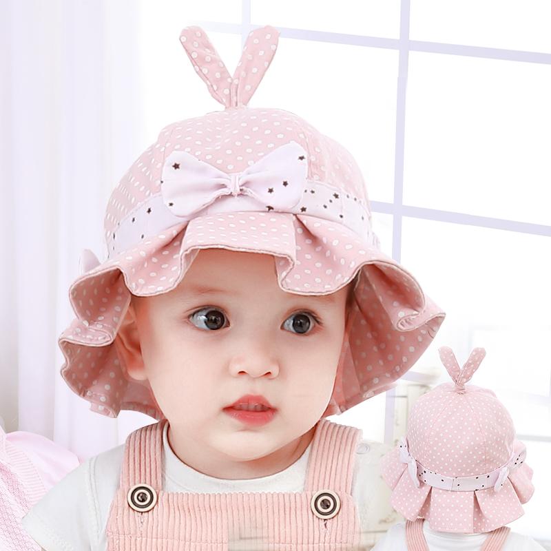 可爱超萌韩版洋气夏季女宝宝帽子
