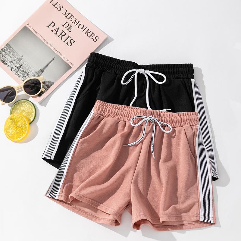 运动短裤黑色宽松高腰外穿夏季新款休闲女阔腿薄款五分速干超显瘦