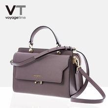 Voyagetime Micro-Tilting Dermatologist Baonu Bag Retro-vintage Elegant Hand-held Slant Bag Fashion Single Shoulder Bag