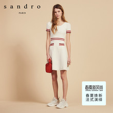 Sandro 2009 Spring and Summer New Kind of Women's Wear with Soft Stripes Knitted Dress R30194E