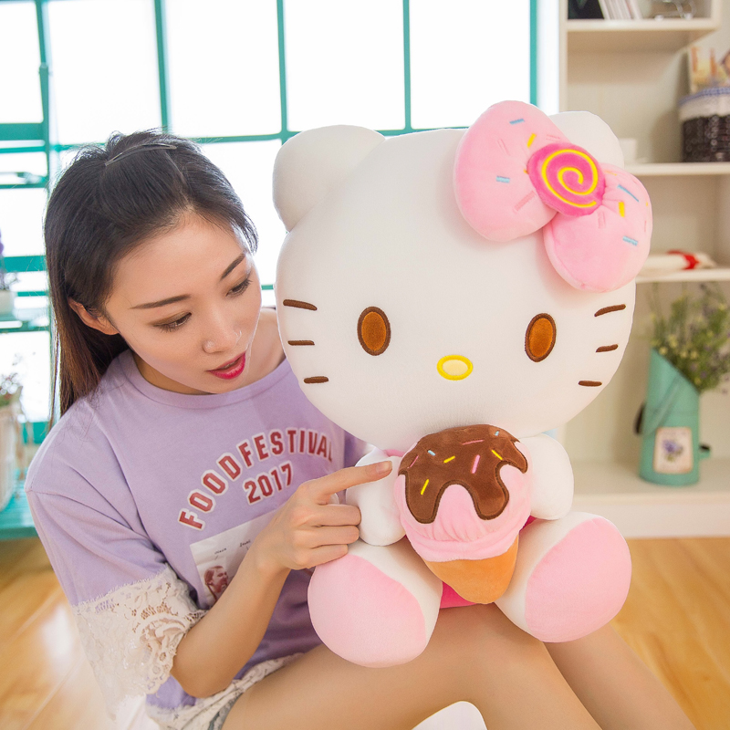 hello kitty公仔哈喽KT毛绒玩具凯蒂猫玩偶布娃娃七夕情人节礼物