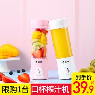 乐邦便携式家用水果小型充电果汁机