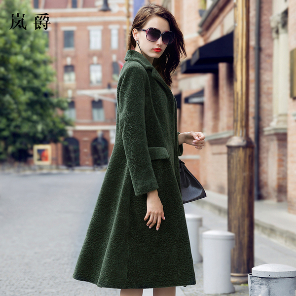 Lan Yang Jianrong new MG-season coat long section of female fashion winter warm wool fur coat 01570
