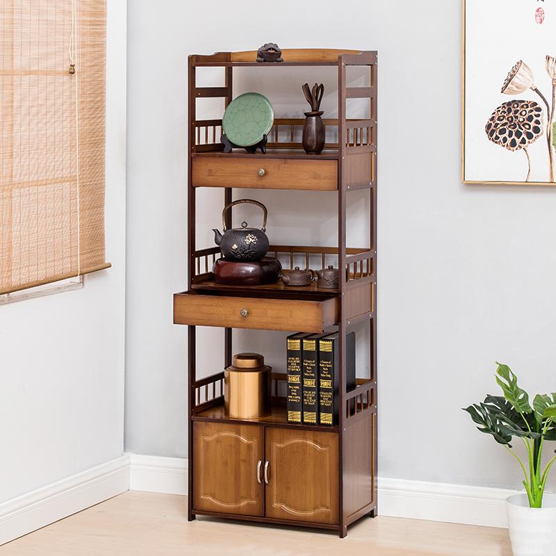 中式博古架书柜置物架客厅茶架子茶叶柜茶室茶具收纳小展示架茶柜