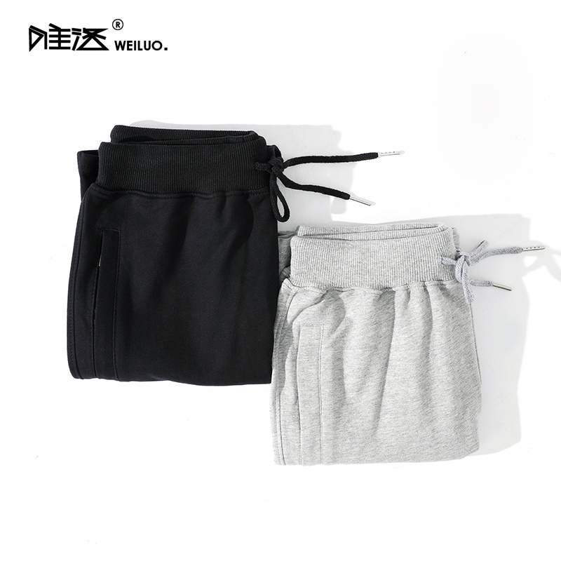 WeiLuo summer new cotton sports pant fashion pocket zipper shorts mens casual running pants